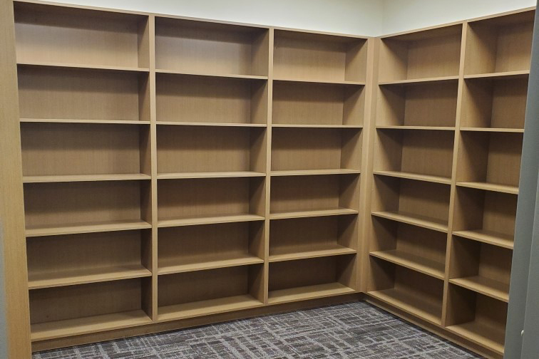 Commercial Cabinets Open Uppers, Book shelves