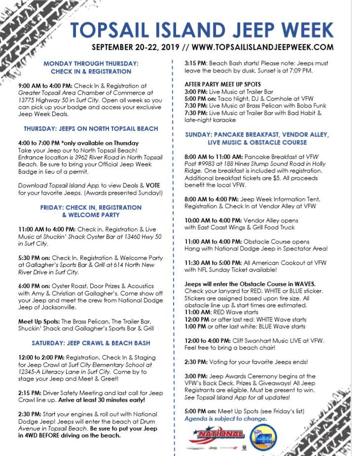 Jeep Week Agenda 2019 PNG