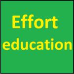 Effort education