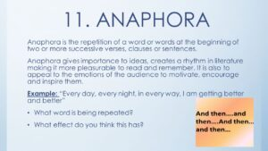 Figure of Speech Anaphora Stylistic Devices - with Examples