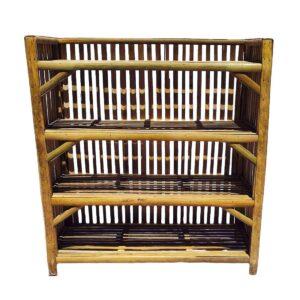 Beautiful Natural Finish Cane Bamboo Rack,Books & Shoes Rack, Kitchen Rack