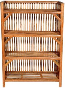 MyCrystal India    Bamboo Cane (Bait) Strong Shoe Rack Wooden Slipper Stand Utility Rack Planter Stand Bookshelf Space Saving Shelf for Home Kitchen, Work from Home Rack for Office Files.
