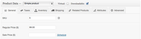 WooCommerce 1.6 Product data tabs