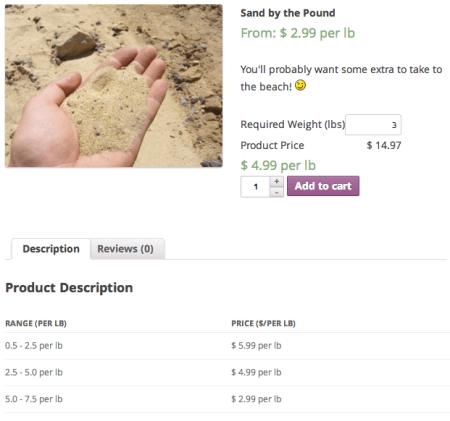 WooCommerce Measurement Price Calculator   Pricing Table Bulk Discounts