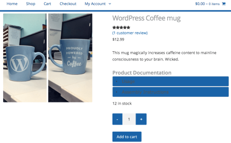 WooCommerce Product Documents Accordion Color