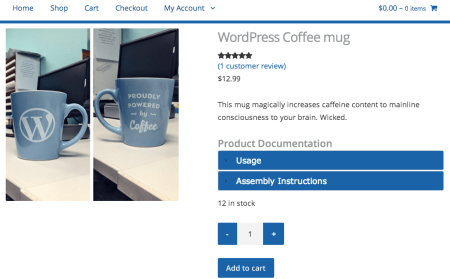 WooCommerce Product Documents accordion text color