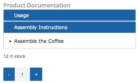 WooCommerce Product Documents Edited Accordion Menu