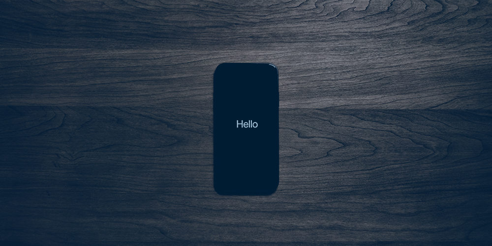 iphone welcome