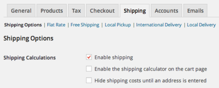 WooCommerce disable shipping calculator