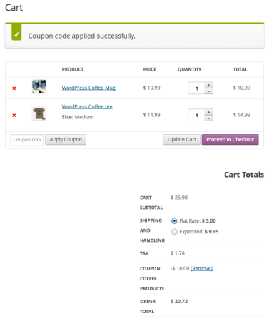 WooCommerce automatic coupon   URL Coupon Applied