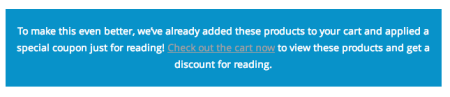 WooCommerce Automatically apply coupon