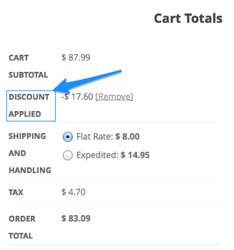 WooCommerce change coupon label