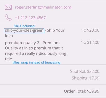 WooCommerce iOS | Order details