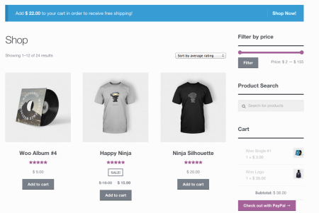 WooCommerce Cart Notices | all notice