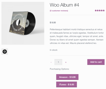 WooCommerce Product Retailers default buttons