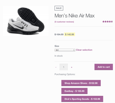 WooCommerce Product Retailers new buttons