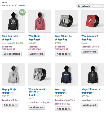 WooCommerce Shop Page added info