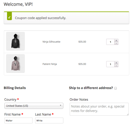 WooCommerce URL Coupons with OPC