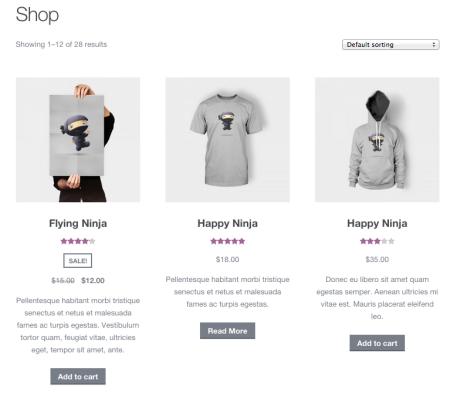 WooCommerce Display short descriptions on shop pages