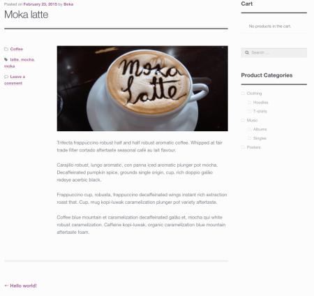 WooCommerce Storefront theme blog layout