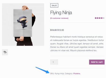 WooCommerce SKUs on Product Page