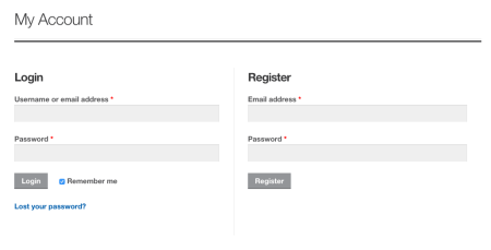 WooCommerce Storefront styled my account page
