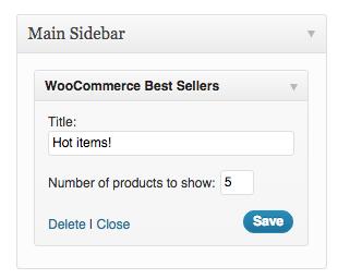 WooCommerce Best Sellers widget added