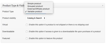 WooCommerce 1.3 Product Types