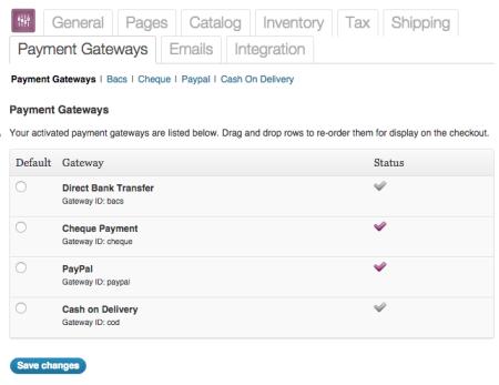 WooCommerce 1.4 payment methods