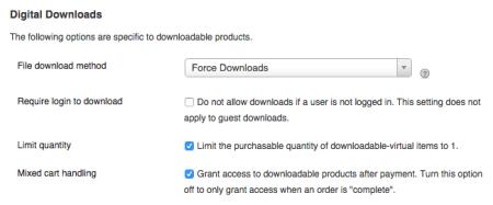 WooCommerce 1.5 download settings