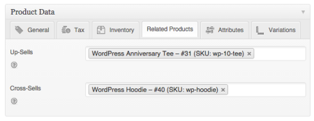 WooCommerce 1.6 upsells / cross sells