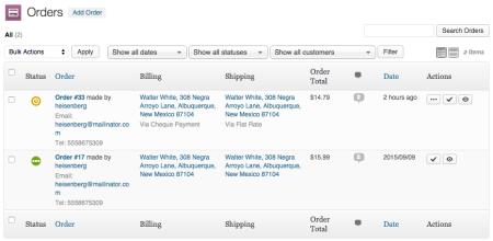WooCommerce 2.0 order screen