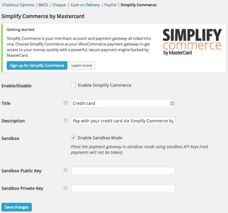 WooCommerce 2.2 Simplify commerce gateway