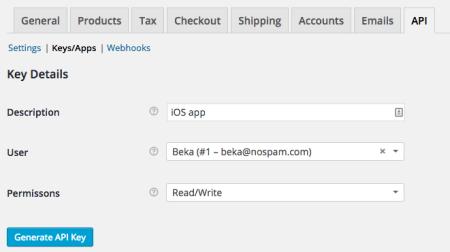 WooCommerce 2.4 API settings