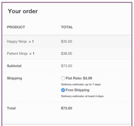 WooCommerce Shipping Estimate open-ended estimates