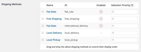 WooCommerce shipping method IDs