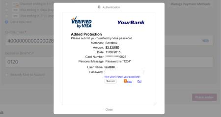 WooCommerce Braintree 3DS Visa
