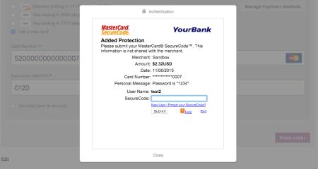 WooCommerce Braintree 3DS mastercard
