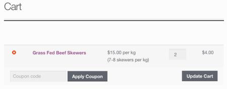 WooCommerce price display: cart price changed