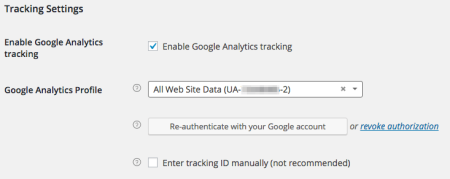 WooCommerce Google Analytics Pro authenticate