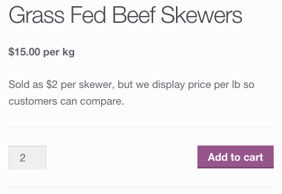 WooCommerce price display: product price changed