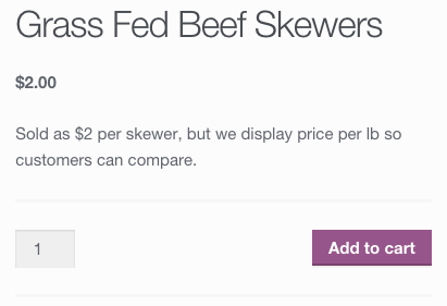 WooCommerce original price display
