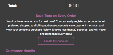 WooCommerce Customer Email: Registration prompt added