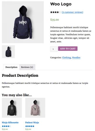 WooCommerce default upsell display