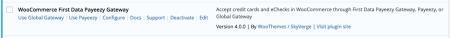 WooCommerce First Data Select Gateway Mode
