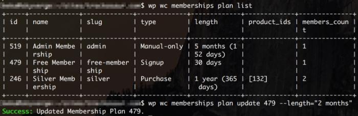 WooCommerce Memberships CLI Support