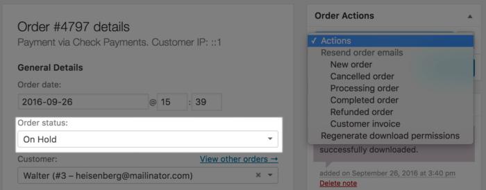 WooCommerce Custom Order Actions Hidden for Unpaid Order