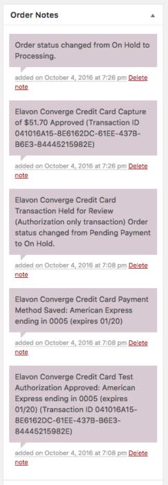 WooCommerce Elavon Payment Captures