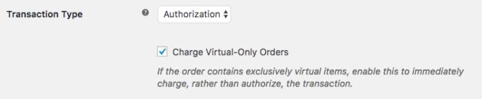 WooCommerce Authorize.Net AIM / CIM virtual only charge