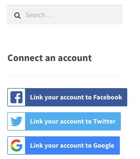 WooCommerce Social login widget logged in